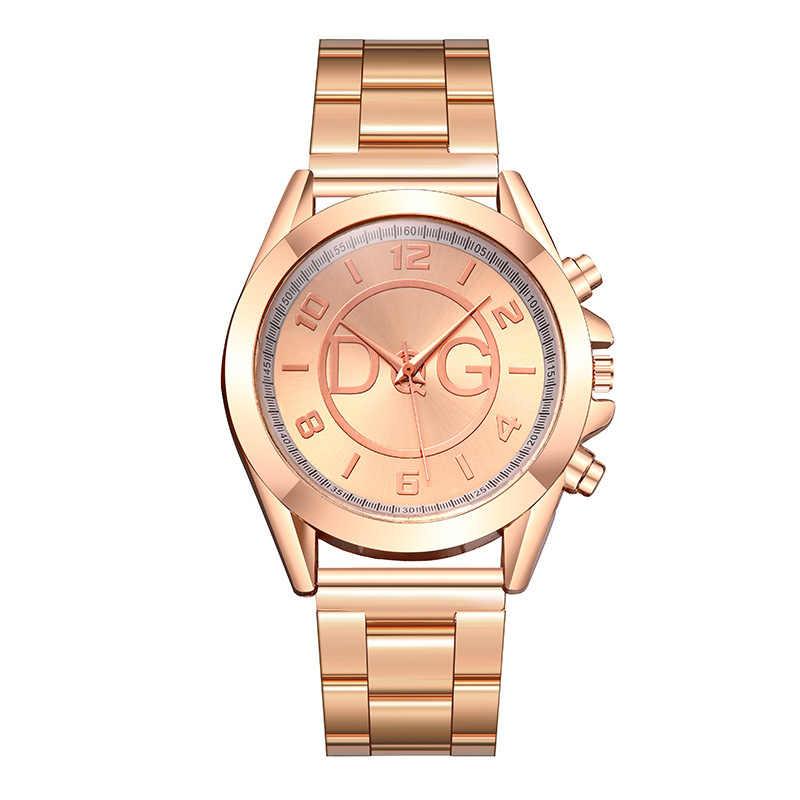 Zegarek damski 2020 yeni moda ti-tc4 marka izle lüks kuvars kadınlar saatler altın gümüş paslanmaz bayanlar elbise İzle Reloj