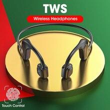 Tws Bluetooth Hoofdtelefoon Echte Draadloze Oortelefoon IPX7 Waterdichte Sport Headset Met Microfoon Niet Real Bone Staat Hoofdtelefoon