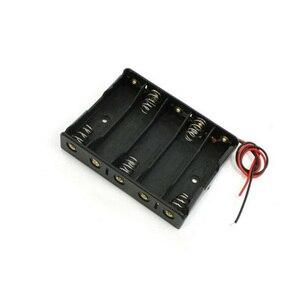 Image 2 - 5x AA Batterie Boîte Porte Étui Avec Fils Côte à Côte Batterie Boîte de Connexion De Soudure Pour 5 pièces Piles AA