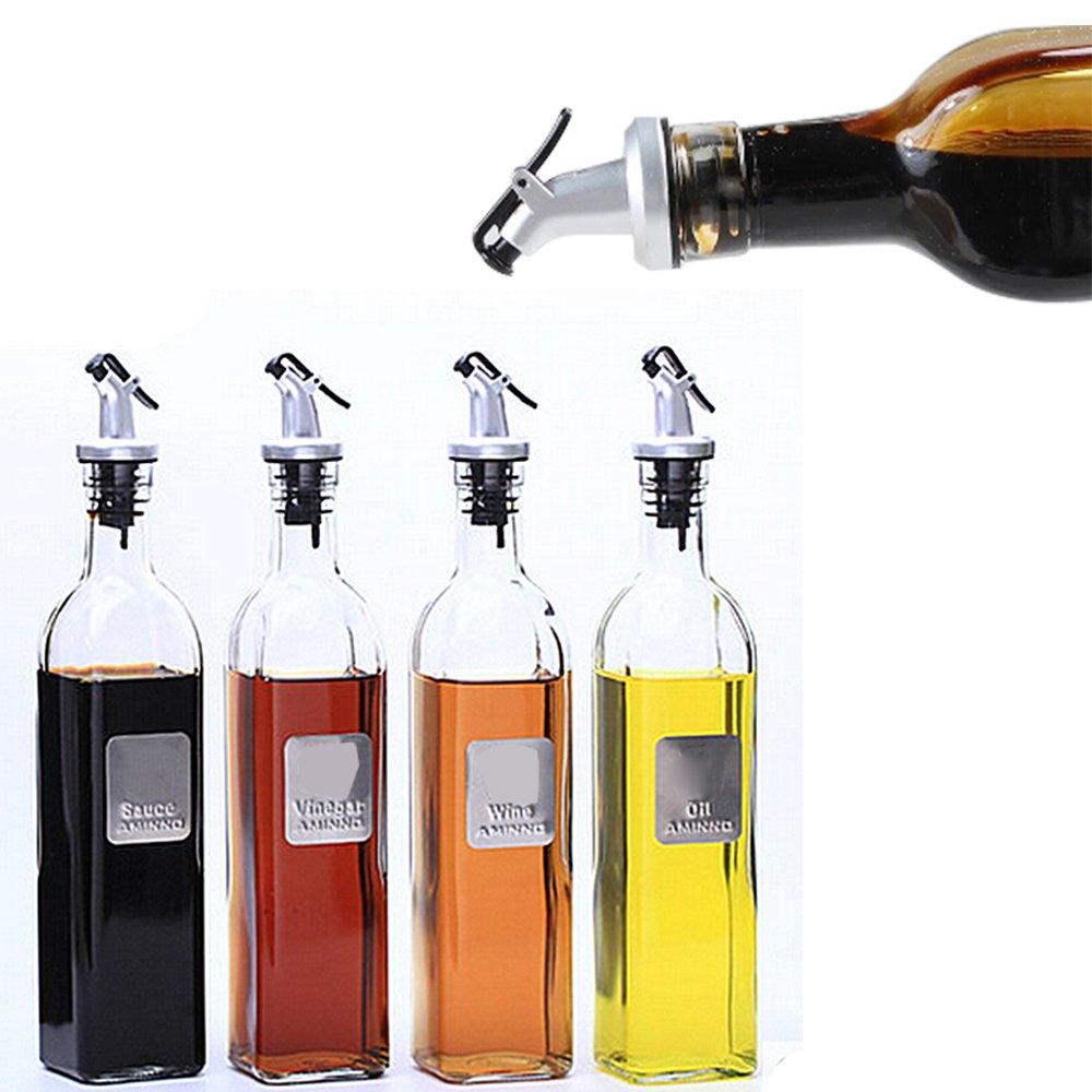 ERMAKOVA bouchon de vin anti-fuite bouteille de distributeur d'huile d'olive Pour huile d'olive verser bec verseur vinaigre vin salade distributeur de vinaigrette