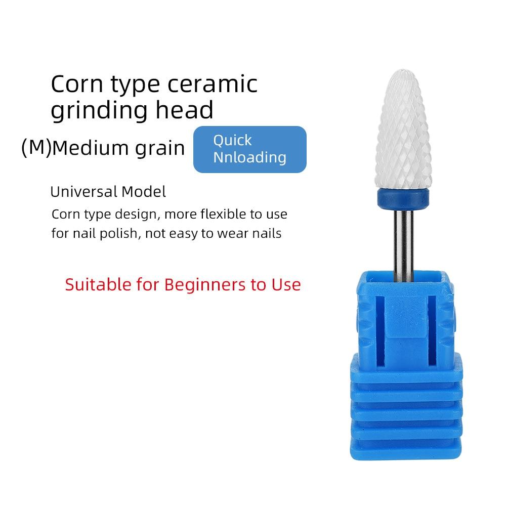 ATOMUS керамический сверло для ногтей Электрический фреза для ногтей для маникюра педикюра аксессуары для ногтей инструмент для удаления лака для ногтей - Цвет: Армейский зеленый