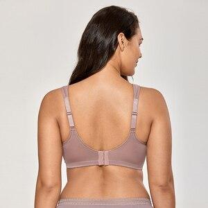Image 3 - Frauen Ungefüttert Vollständige Abbildung Unterstützung Plus Größe Wirefree Minimizer Bh