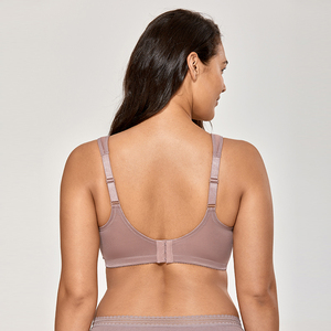 Image 3 - Womens Unlined Full Figure Support Plus Size Wirefree Minimizer Bra