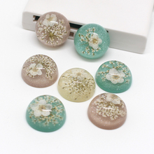 5pcs Korean Cherry Blossoms Embellishment Flower Resin Flatback Cabochon Beads DIY Crafts Earring Findings Wedding Jewelry Make