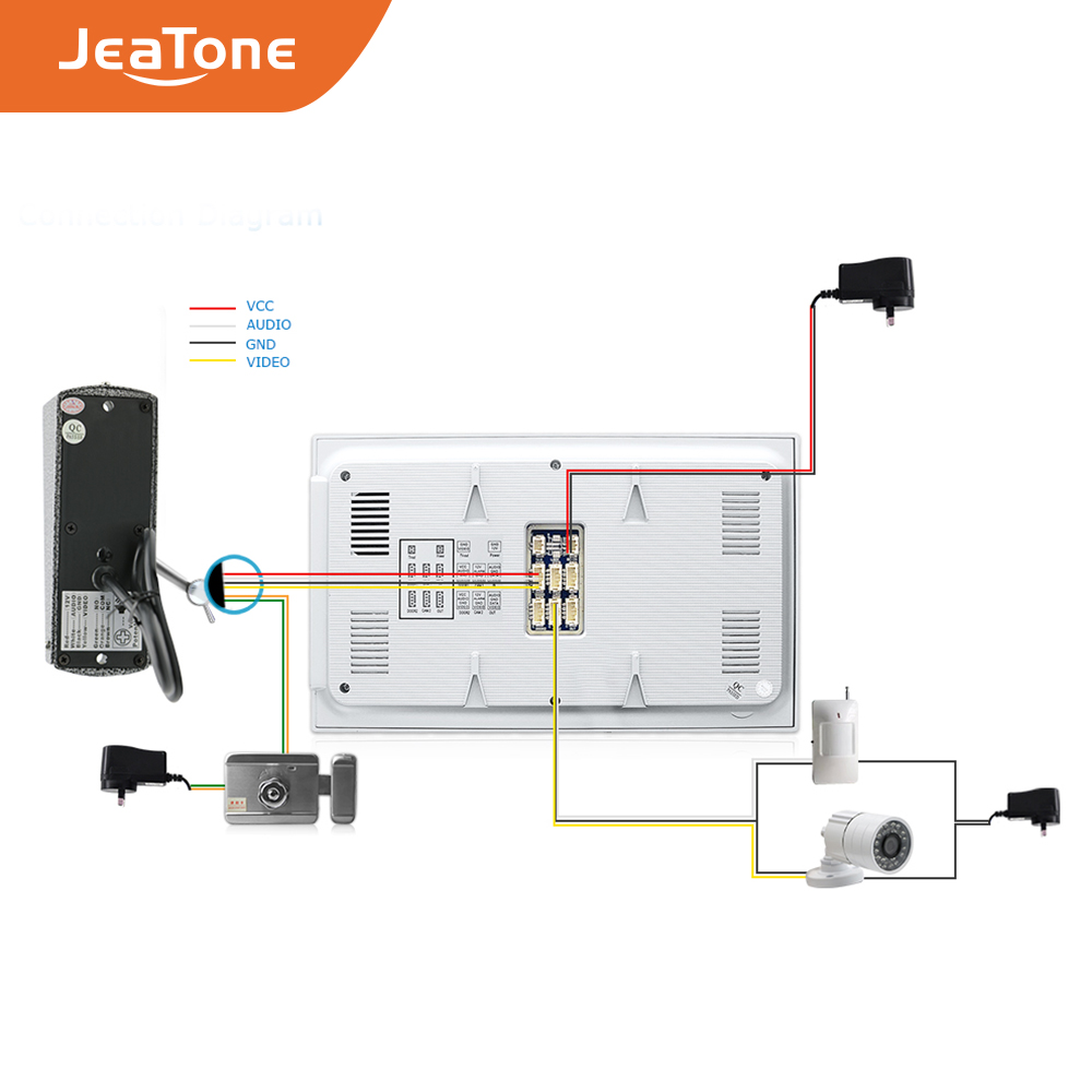 Купить с кэшбэком 4 Wired 720P/AHD 7'' Video Door Phone Intercom DoorBell Door Speaker Security System Voice message/Motion Detection/MP4 Player