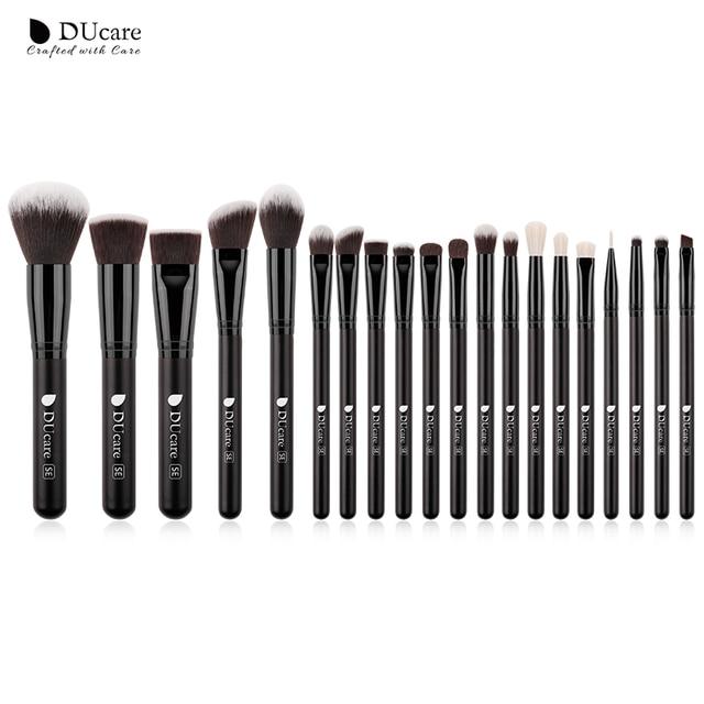 DUcare Make Up Brushes Professional Natural goat hair Makeup Brushes set Foundation Powder Concealer Contour Eyes Blending brush 2