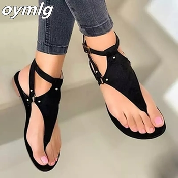 Women Sandals 2020 Summer Outdoor Beach Flip-flop Solid Fashion Gladiator Flats Casual Ladies Shoes