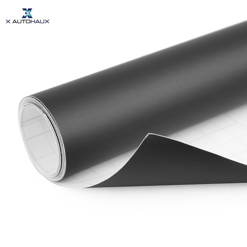 X AUTOHAUX 152cm*30cm/60cm Red Black White Matte Bubble Free Self Adhesive Car Body Vinyl Film Wrap Decoration Sticker