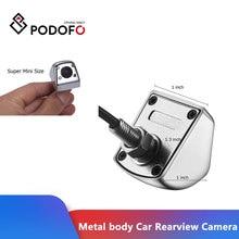 Podofo HD dikiz su geçirmez Metal gövde araba dikiz kamera 170 derece geniş açı araba dikiz kamera reversing geri görüş kamerası