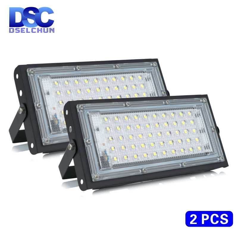 2Pcs/50W LED Banjir Cahaya AC 220V 230V 240V Lampu Sorot Outdoor Spotlight IP65 LED Tahan Air lampu Jalan Landscape Lighting