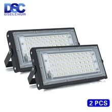 2 sztuk/partia 50W Led Flood światła AC 220V 230V 240V odkryty reflektor reflektor IP65 wodoodporna lampa uliczna LED oświetlenie krajobrazu