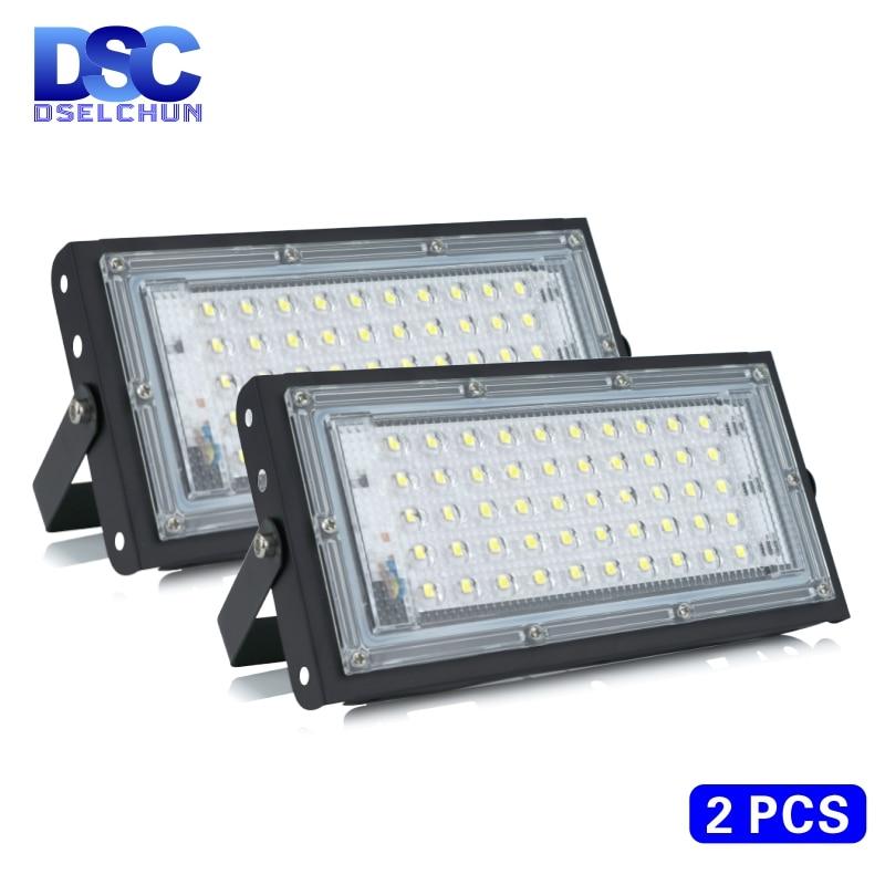 2 шт./лот Светодиодный прожектор мощностью 50 Вт AC 220V 230V 240V Открытый прожектор, точечный светильник, IP65 Водонепроницаемый для светодиодного у...