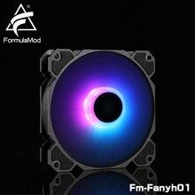 FormulaMod Fm-Fanyh01 120mm PWM Fan 5v 3Pin RGB Multipurpose Radiator Cooler Hydraulic Bearing 11 Large-size Blades
