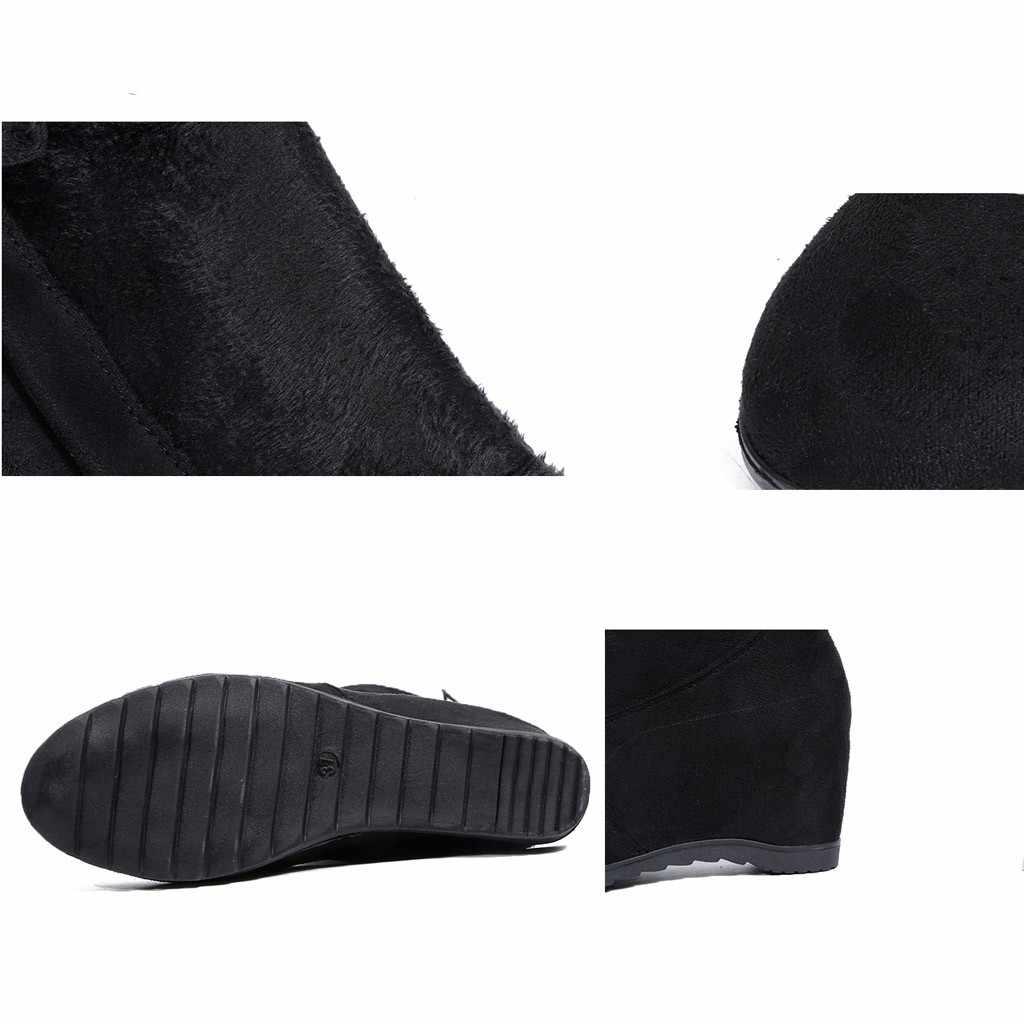 Mới Đùi Cao Cấp Giày Nữ Mùa Đông Giày Phụ Nữ Trên Đầu Gối Giày Căng Phẳng Gợi Cảm Thời Trang 2020 Đen Botas mujer # L20