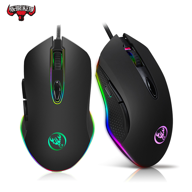 Professional-Grade Wired Gaming Mouse 4800DPI Adjustable Program Gamer Mice LED Optical Sens For Laptop Computer PC  LOL CS