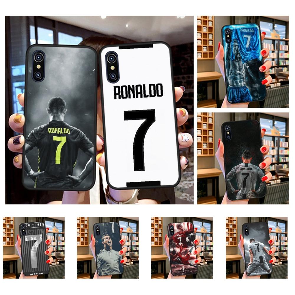 NBDRUICAI CR7 Cristiano Ronaldo DIY malowane Bling etui na telefony dla iPhone 11 pro XS MAX 8 7 6 6S Plus X 5S SE XR przypadku
