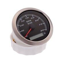 مقياس سرعة الدوران مع شاشة LCD ، 8000 دورة في الدقيقة ، مناسب للقارب والسيارة