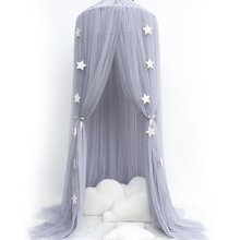 Hanging Baby Bed Canopy Mosquito Net Dome Dream Curtain Tent Baby Crib Netting Round Hung Kids Canopy Tent Children Room Decor недорого