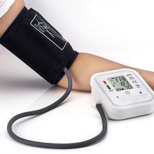 Full Automatic Upper Arm Blood Pressure Monitors Digital Electronic Sphygmomanometer Tonometer Pulse Heart Rate Monitor
