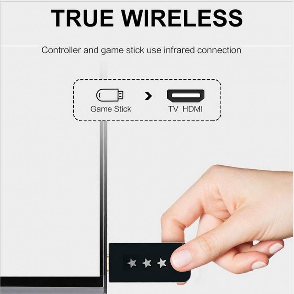 cheapest Built In 628 8 Bit Classic Game HD Mini TV Video Game Console 4K HDMI Wireless Controller Retro Childhood Game Console 2 Players