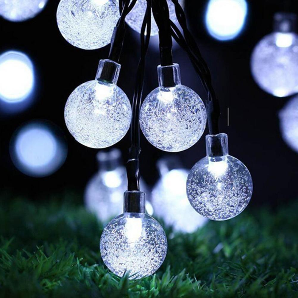6.5m 30LED Solar Power Bubble Ball Fairy String Light Wedding Party Garden Decor Easy To Install And Simple Operate