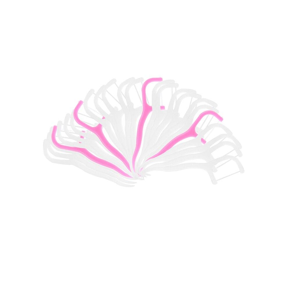 25/30/50/100 шт./упак. нить Уход за полостью рта Teethpick зубная щетка зубная нить зубная щетка зубочистки меч здоровье и Красота - Цвет: 100pcs