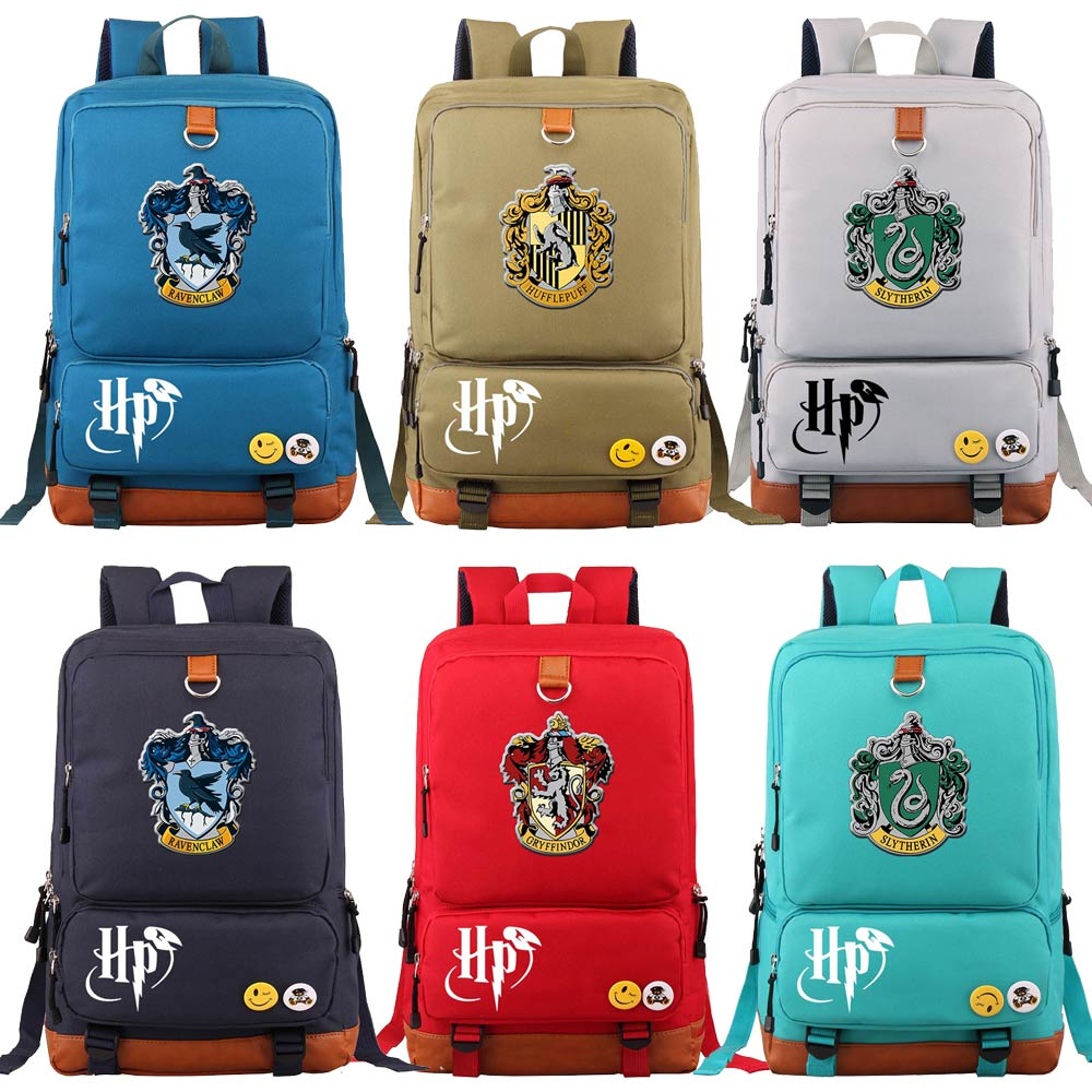 D0301 Magic School Lion Gryffindor Boy Girl Book School Bag Women Bagpack Student Teenagers Schoolbags Patchwork Men Backpack