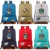 D0301 Magic School Lion Gryffindor Boy Girl Book School bag Women Bagpack Student Teenagers Schoolbags Patchwork Men Backpack