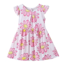 Hot A-Line Dresses Casual Clothing Princess Dress Vestido infantil Baby Girl Dress Cotton Floral Sleeveless baby girl dress pink flower sleeveless ball gown princess wedding dresses girls baptism 1 year vestido infantil 6m 4y