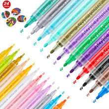 Acrylic Paint Pens Waterproof Acrylic Marker Pens Set, 15/24 Colors Acrylic Pens for DIY Rock, Stone, Ceramic, Glass, Mugs, Wood
