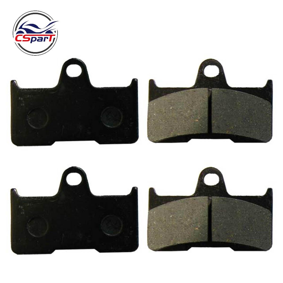2 Pairs 4PCS Rear Brake Pad  Semi Metallic Non Asbestos CFMoto CF500 500 500CC CF188 CF600 600 600CC CF196 ATV UTV Shineary