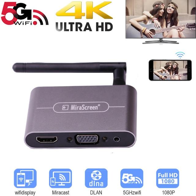 5G 4K Wifi Sans Fil HDMI VGA Bâton TV Audio Vidéo Affichage Dongle Adaptateur pour iPhone iPad HUAWEI XIAOMI IOS Android Téléphone À La TVHD