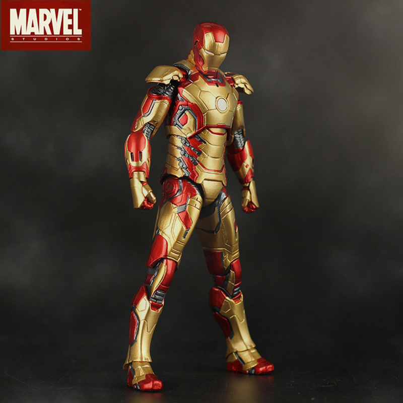 MArvel Juguetes Iron Man 3 The Avengers 2 IRON MAN MK42 MK43 Movable Model PVC Action Figure Toys For Children Gifts 2B01