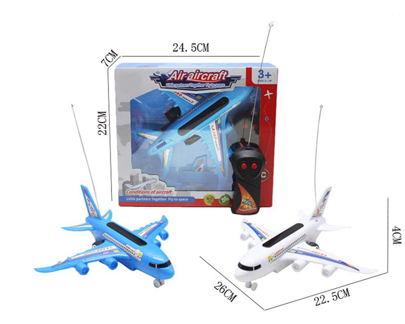 Children'S Educational SMV Remote Control Model Plane Toy Model Airlines Passenger Plane Air Bus Stall New Year Hot Selling