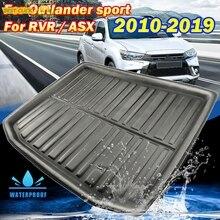Zugeschnitten Für Mitsubishi Outlander Sport RVR ASX 2010   2019 Boot Cargo Liner Fach Stamm Matte Gepäck Boden Teppich Tablett wasserdicht