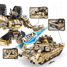 MEOA 621020 2 IN 1 Deformation Robot And M1A2 Tank Building Blocks Assembly Tank Model Bricks Educational Toys Christmas Gifts tamiya35269 tank assembly model american m1a2 abrams tank model