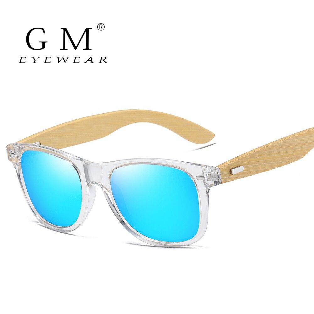 GM Bamboo Sunglasses Men Women Travel Goggles Sun Glasses Vintage Wooden Leg Eyeglasses Fashion Brand Design Sunglasses Male