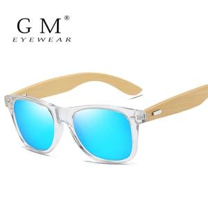 GM Bamboo Sunglasses Men Women Travel Goggles Sun Glasses Vintage Wooden Leg Eyeglasses Fashion Brand Design Sunglasses Male(China)