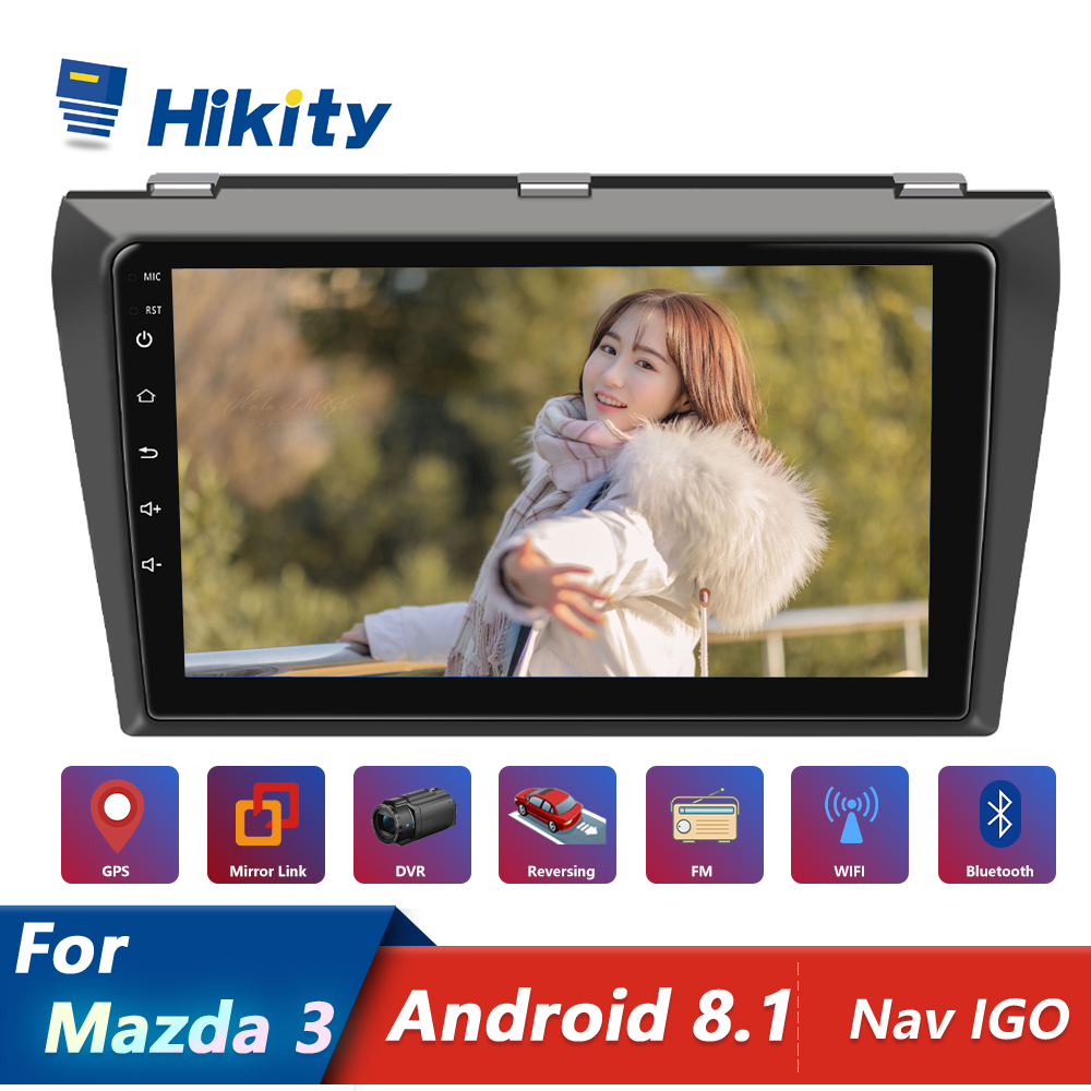 Hikity Car Multimedia Player Android GPS Navigation <font><b>2DIN</b></font> Autoradio WiFi 2 Din 9