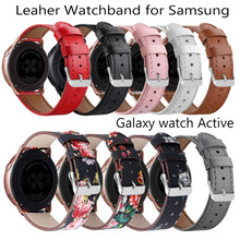 20mm Genuine Leather bracelet strap replace watch band for Samsung galaxy active gear S2 Amazfit bip sport bands