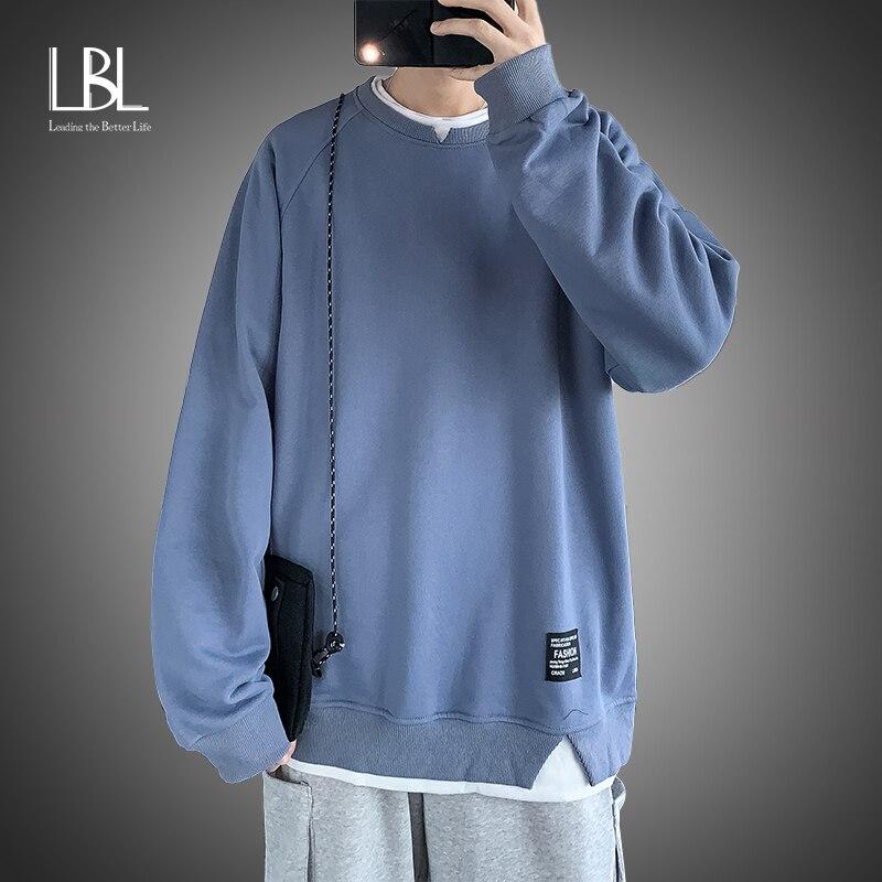 Hoodies Sweatshirts Männer Streetwear Solide Pullover Casual O Neck Sweatshirt Hoodies Männer Neue 2021 Frühling Herbst Sweatshirt Männer