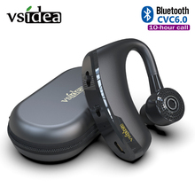 V9ビジネスワイヤレスbluetoothヘッドセットとマイク音声制御ハンズフリーカーのbluetoothイヤホンノイズ制御ドライバスポーツ
