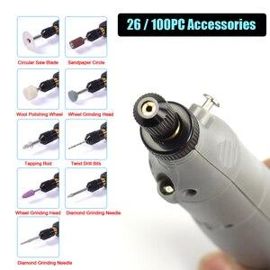 Image 4 - NEWACALOX di Ricarica USB A Velocità Variabile Mini Grinder Macchina Rotativa Kit di Strumenti Grinder Set con 126pcs Incisione Kit di Accessori