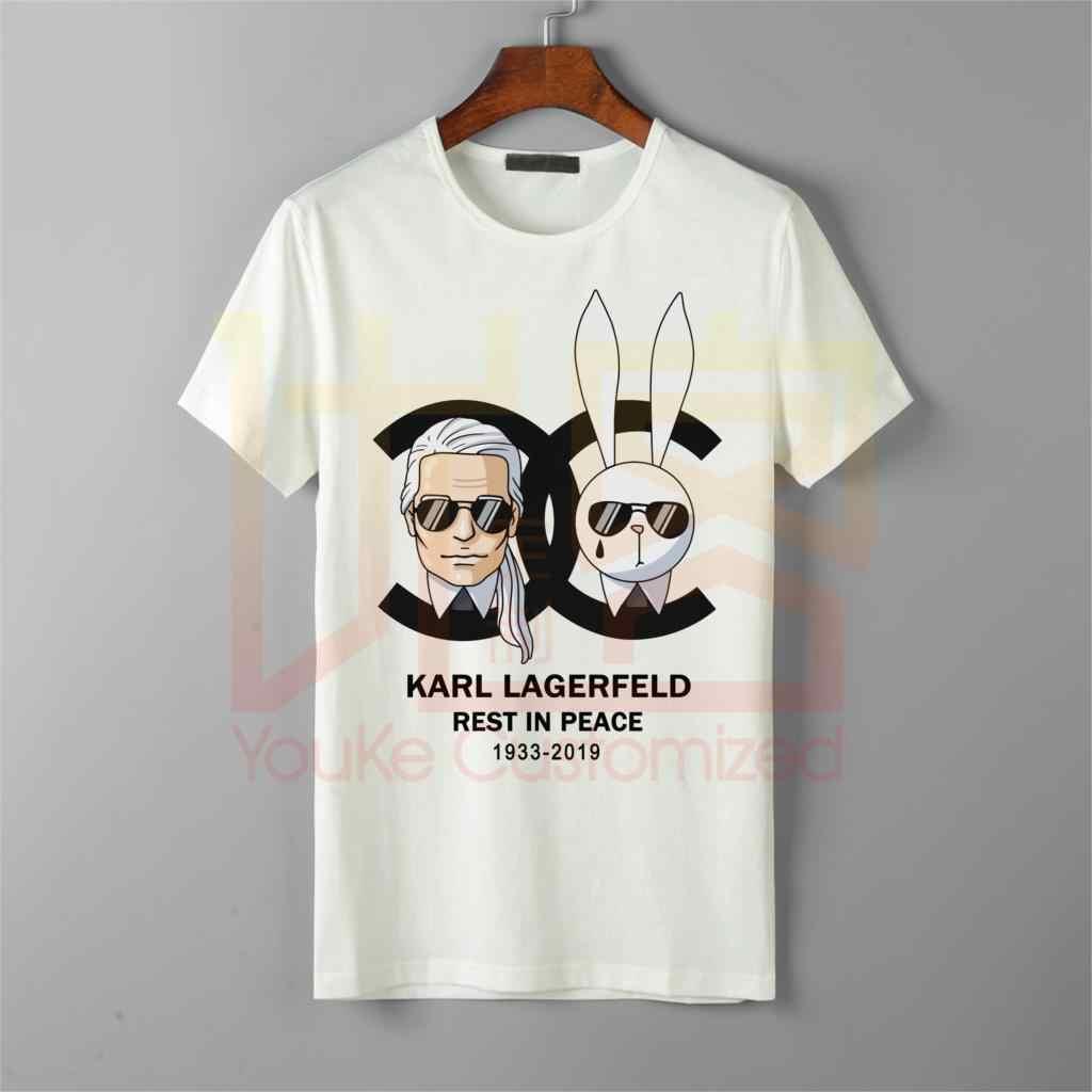 Мужская Футболка Karl Lagerfeld addidas с несколькими логотипами футболки с принтом «камень-остров» модная футболка Карла