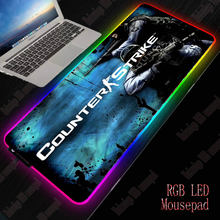 Игровой коврик для мыши xgz большой rgb геймерский usb светодиодный