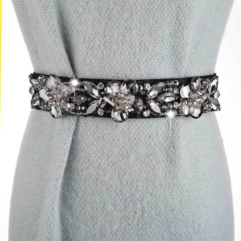 2020 New Fashion Belts For Women Trendy Design Solid Corset Belt Crystal Inlaid Belt All-match Hot Sale Waistband Female ZK745