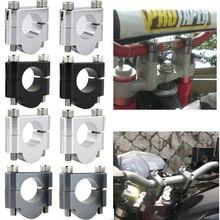 """22mm 7/8"""" Handlebar Risers Mount Clamps Aluminum Fit For Suzuki DL250 VStrom 650 DL650 V Strom 1000 DL1000 DL1000A GN125 250 400"""