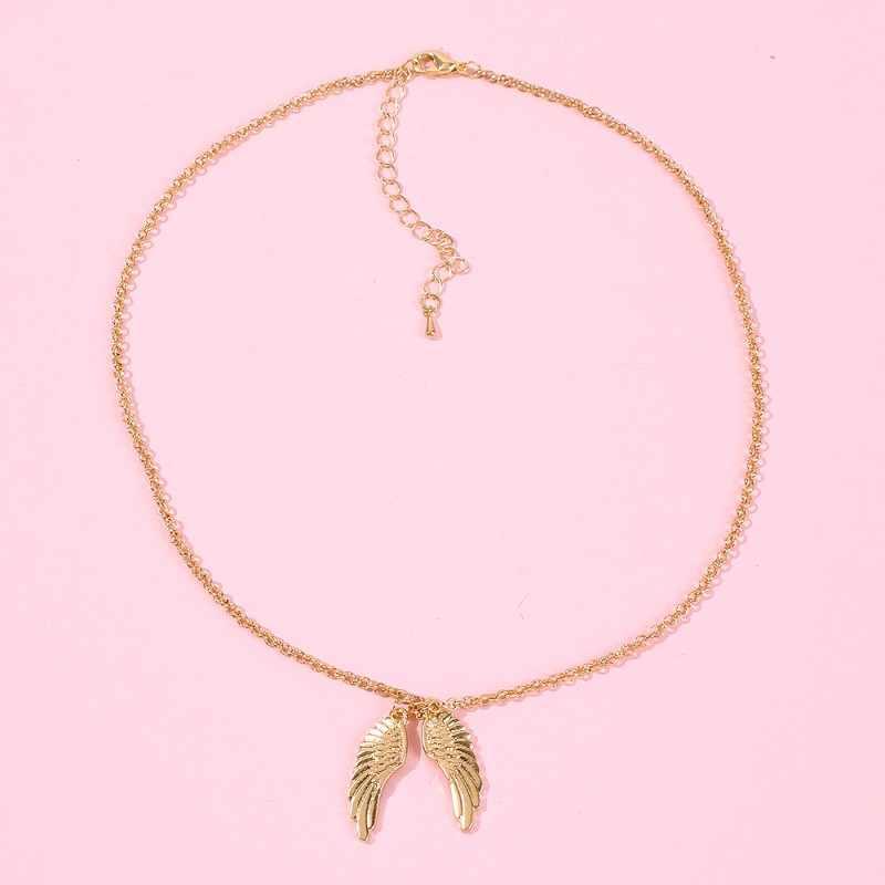 الملاك رسالة قلادة قلادة لوحة قلادة الإناث شخصية اسم قلادة مجوهرات مخصصة للنساء هدية Lalynnly N71761