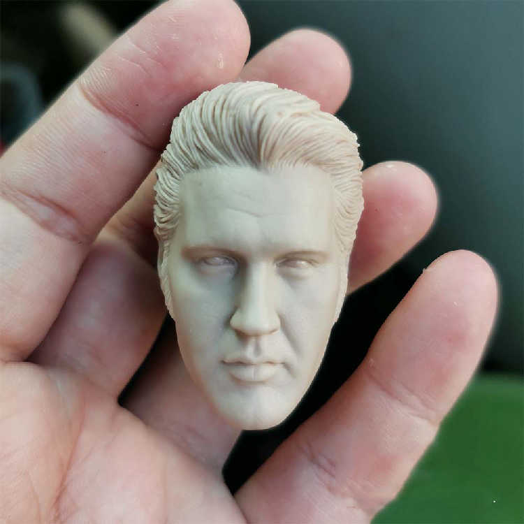 Elvis Presley The King 1//6 Male Head Carving Unpainted Model Accessory