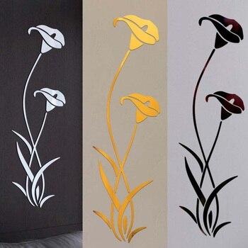 3D Diy Flower Shape Acrylic Wall Sticker Modern Stickers Decoration Living Room Removable Mural Wallpaper Art Decals Home Decor 1